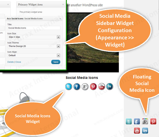 Social Media Flying Icons | Floating Social Media Icon