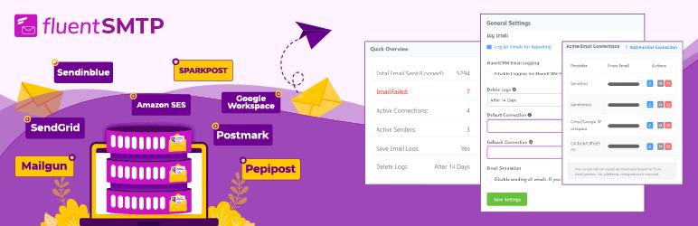 FluentSMTP — WordPress Mail SMTP, SES, SendGrid, MailGun Plugin