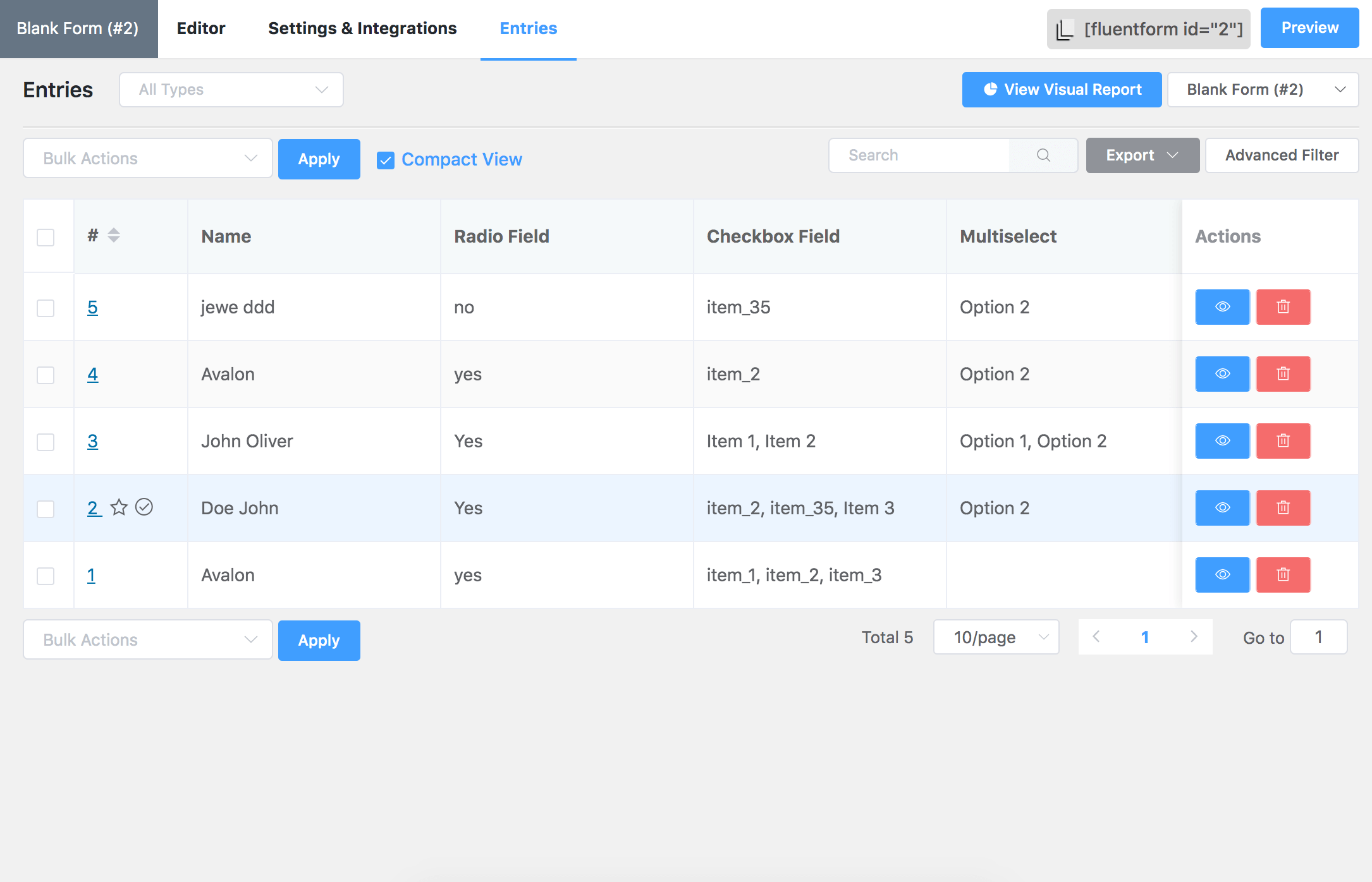 Contact Form Plugin – FluentForm – Best Drag and Drop Form Builder