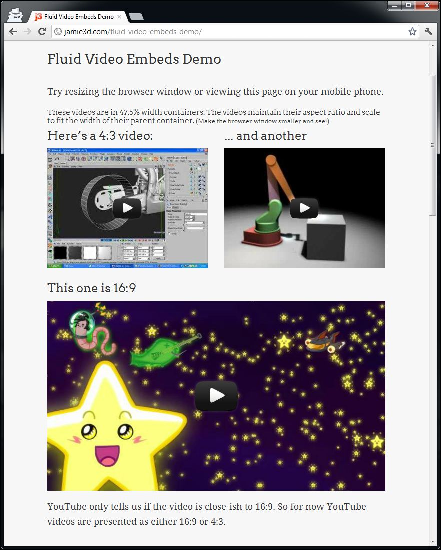 fluid-video-embeds screenshot 2