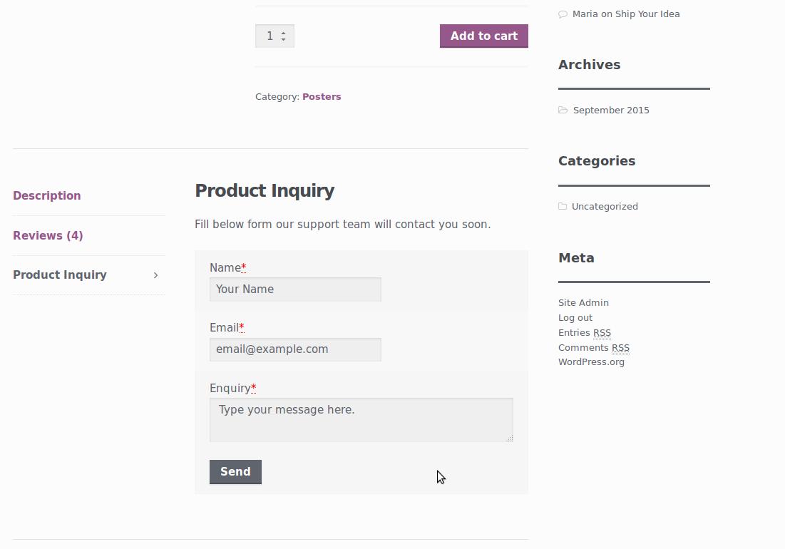 Woocommerce Quick Product Enquiry Form — WordPress Plugins