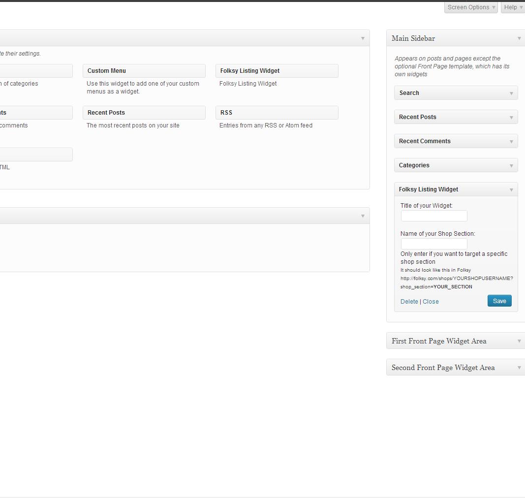 Screenshot of the widget in a sidebar