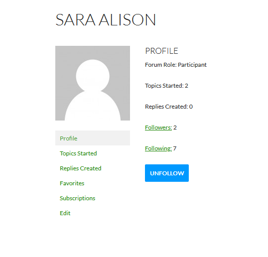 Output in user profile