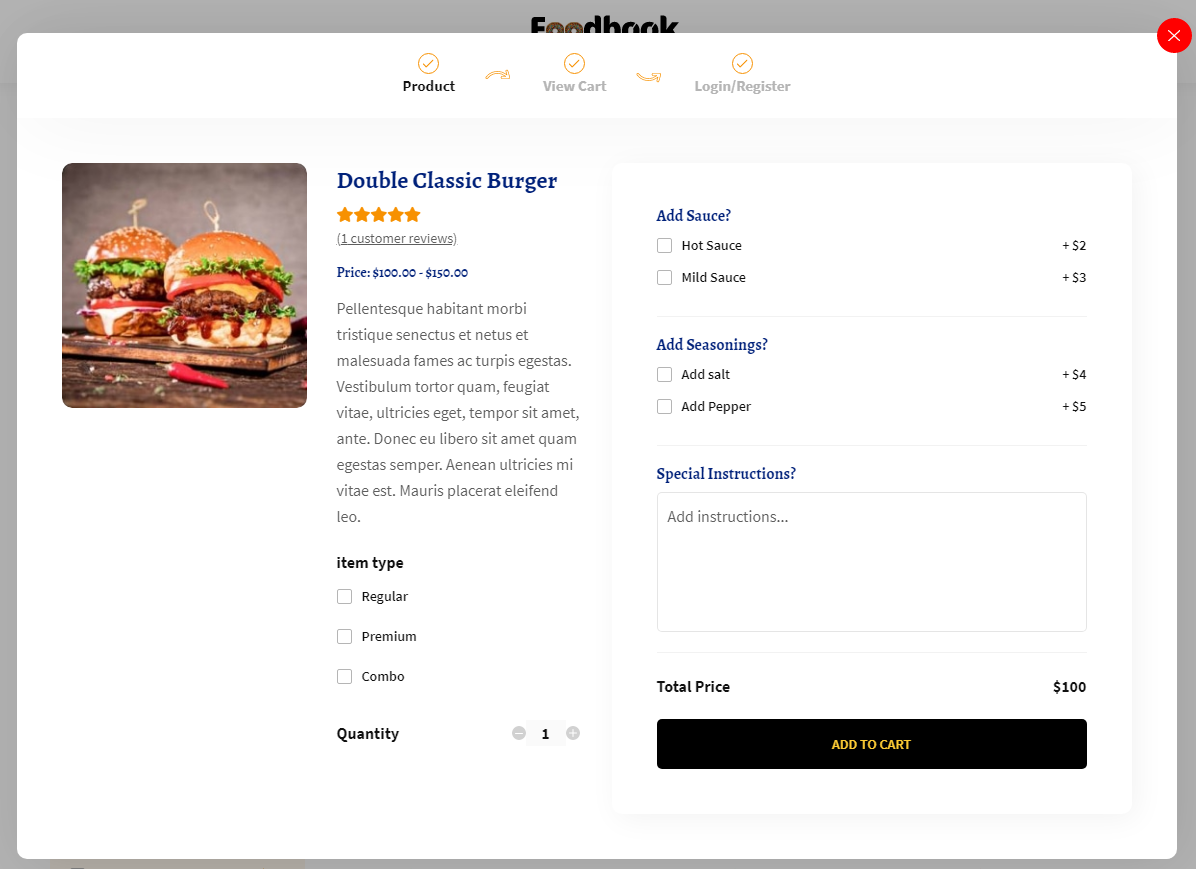 FoodBook Light – Online Food Ordering System