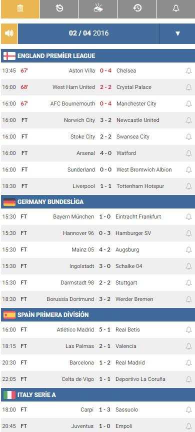 football live scores wordpress org