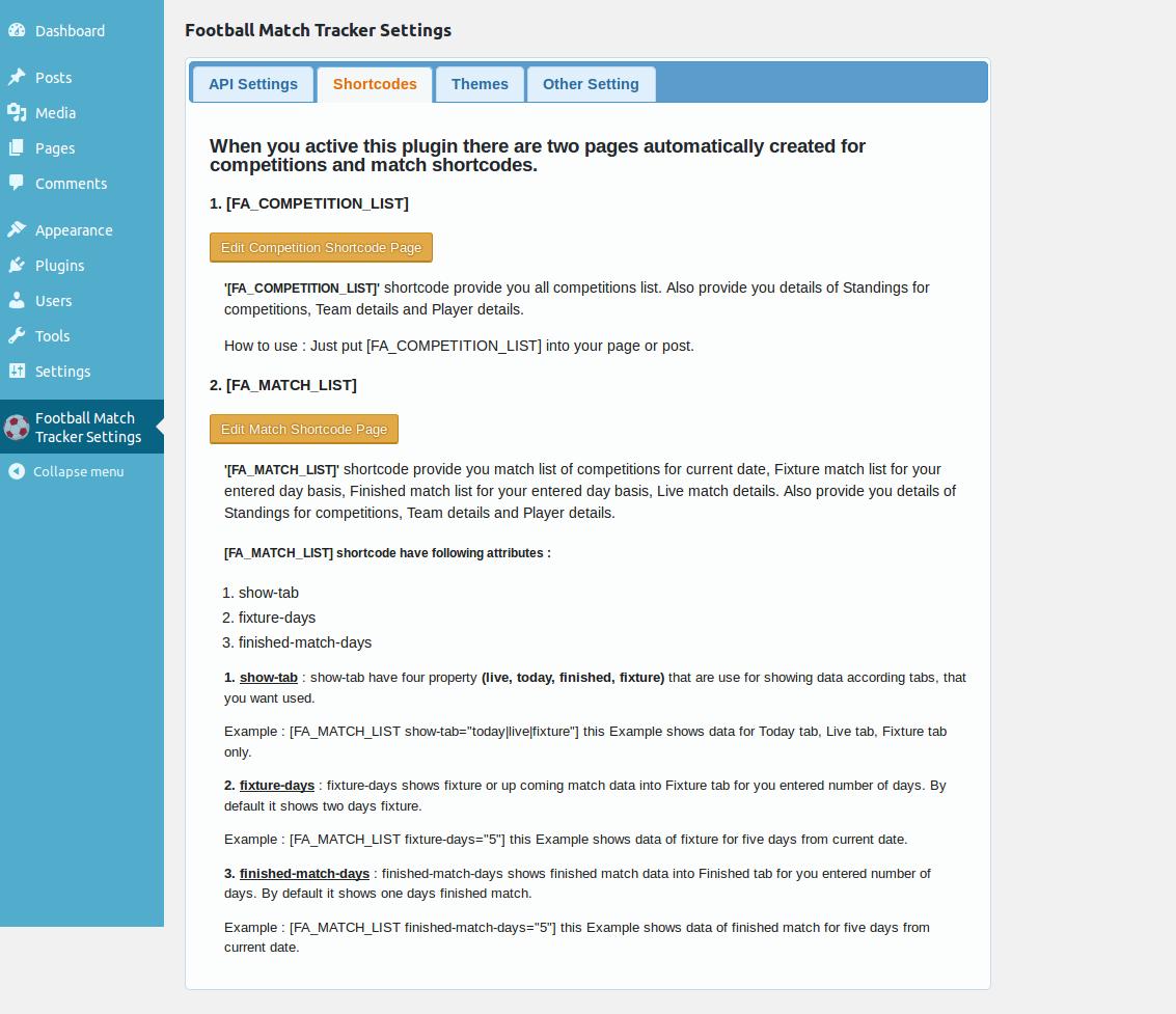 Football Match Tracker Wordpress Plugin Wordpressorg