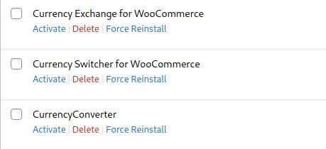 Before force reinstalling plugins