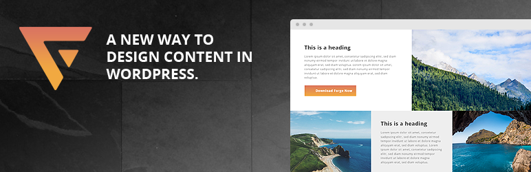 Forge – Front-End Page Builder