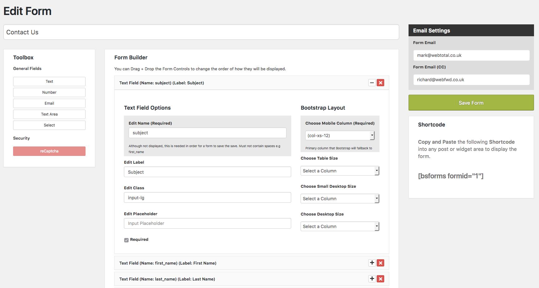 Bootstrap form builder wordpress plugins bootstrap form builder falaconquin