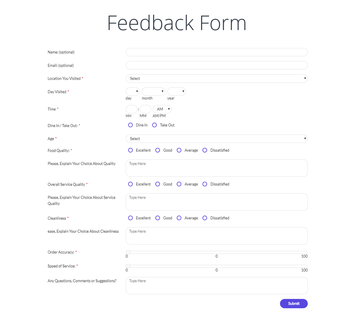 Form Maker - Creating a new form