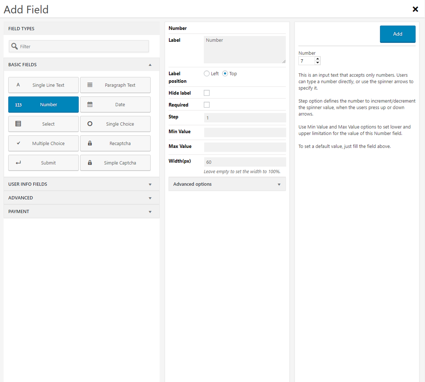 Form maker by wd user friendly drag drop form builder plugin form maker form captcha field type falaconquin