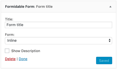 Add a WordPress contact form into your sidebar with a widget