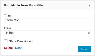 Add a contact form widget into a sidebar