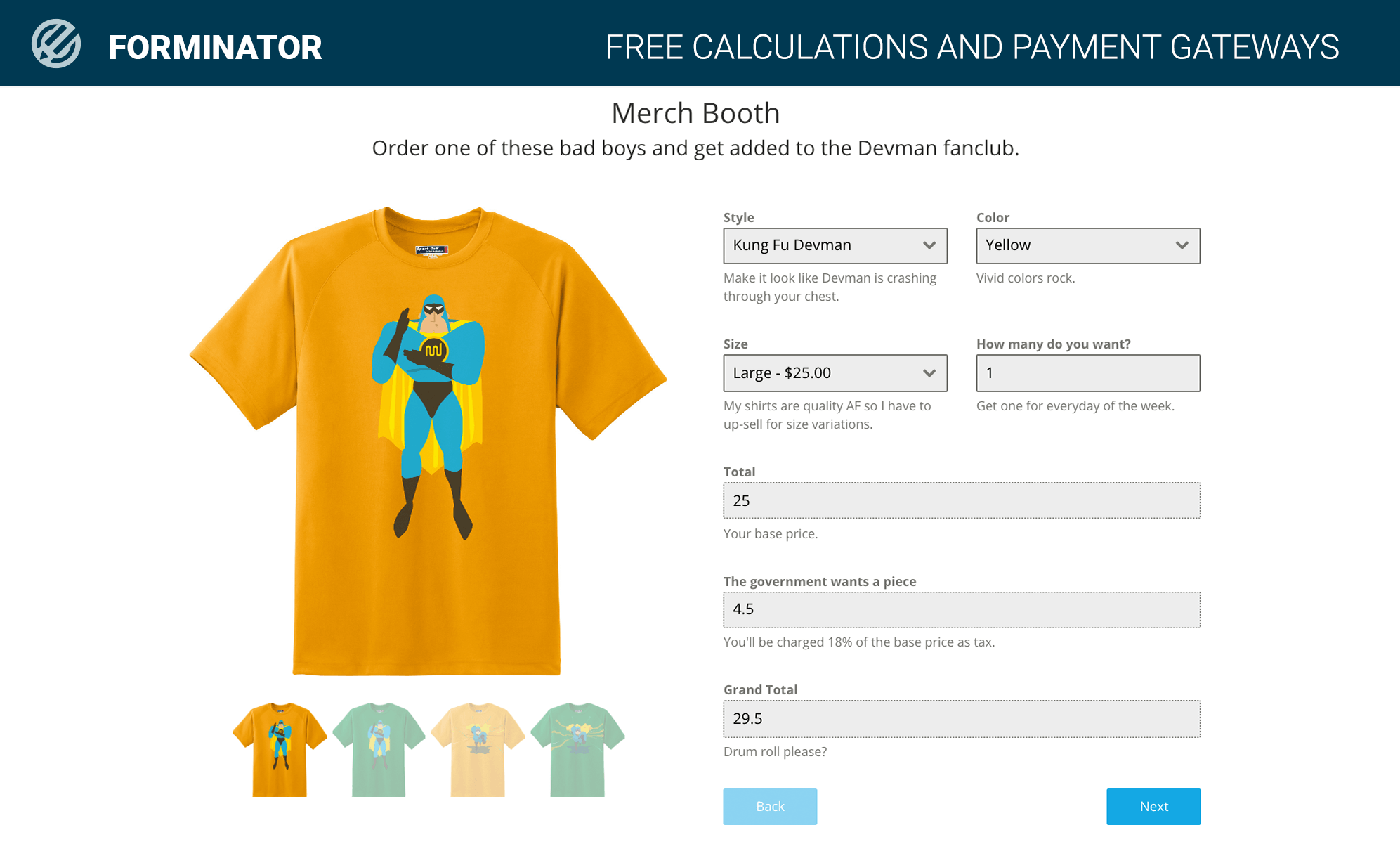 Add lead generating calculators to your site.