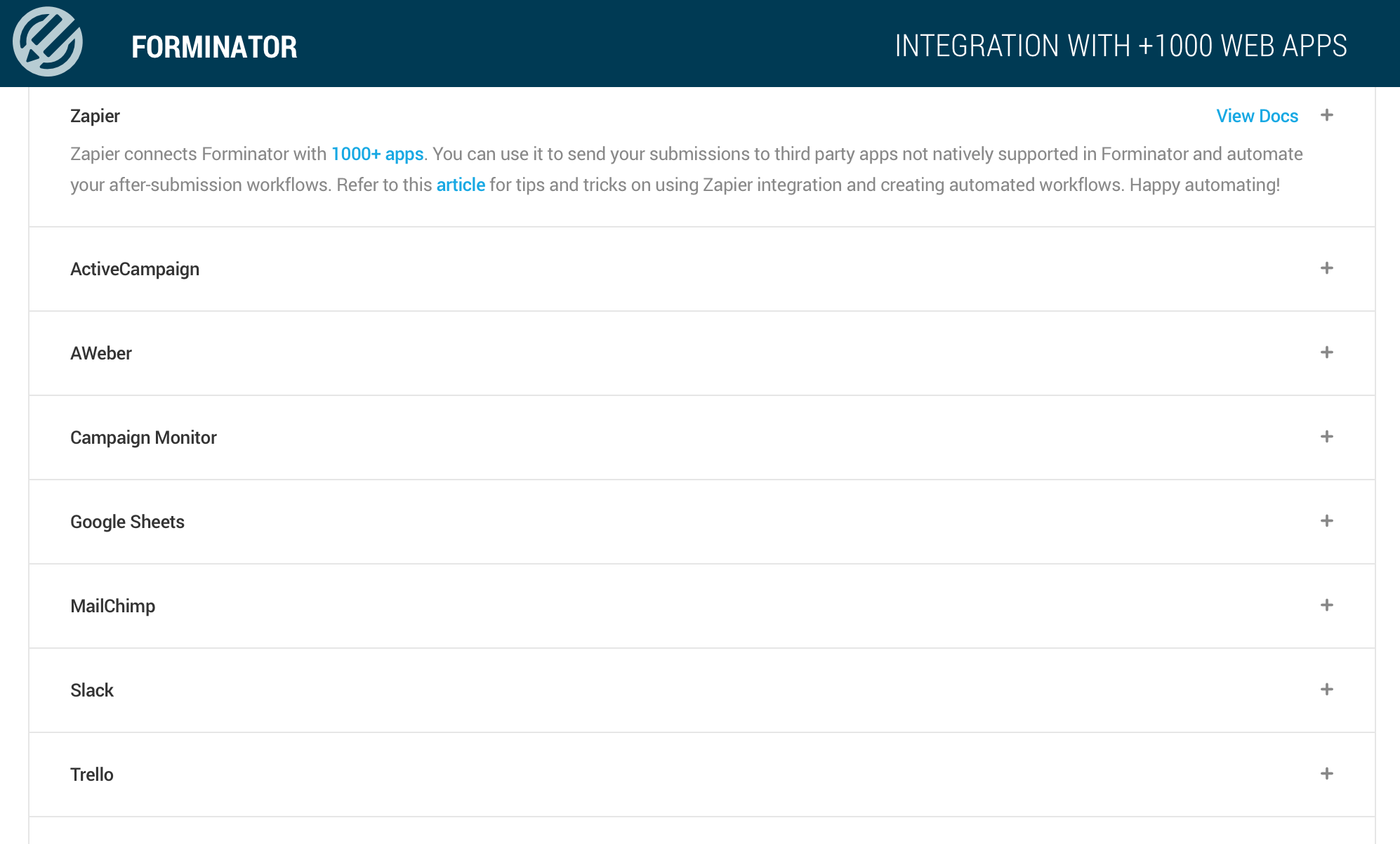 All your favorite integrations built-in.