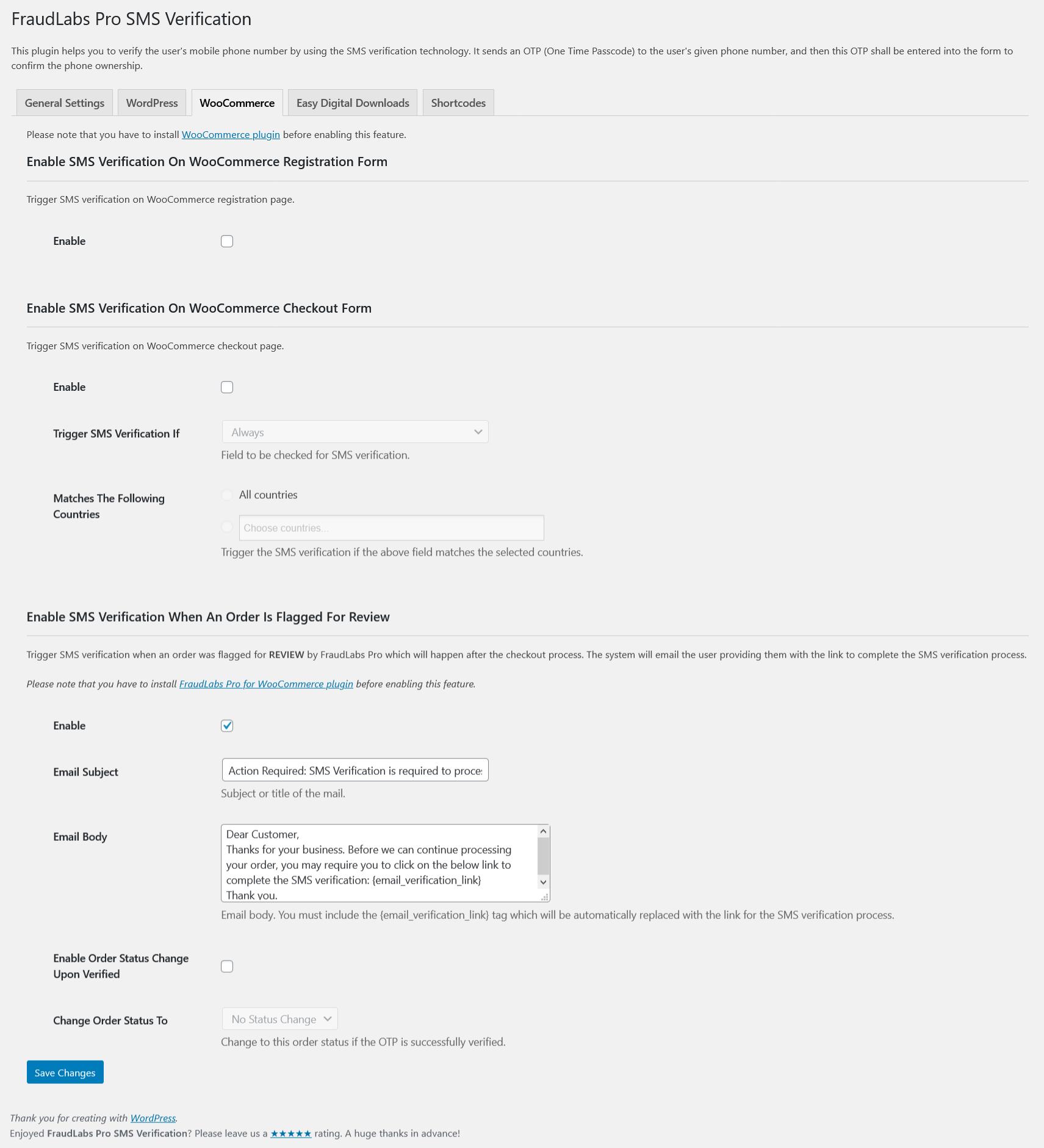 FraudLabs Pro SMS Verification