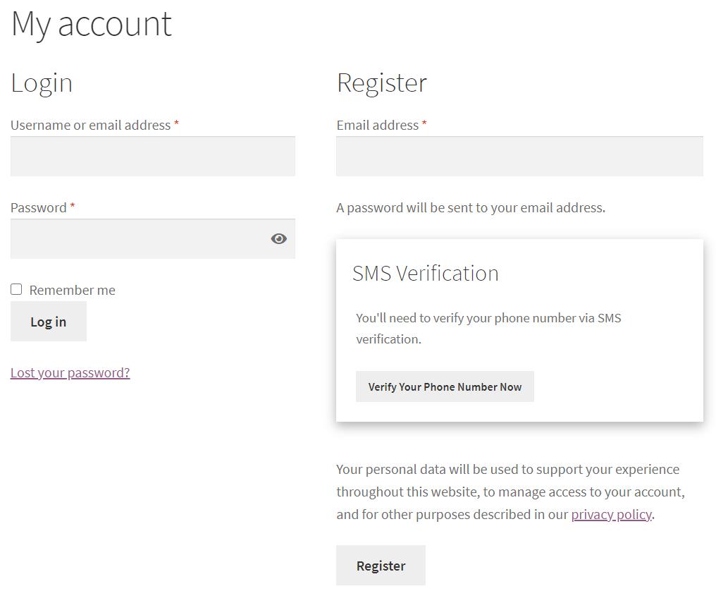 FraudLabs Pro SMS Verification Settings on WordPress Settings.
