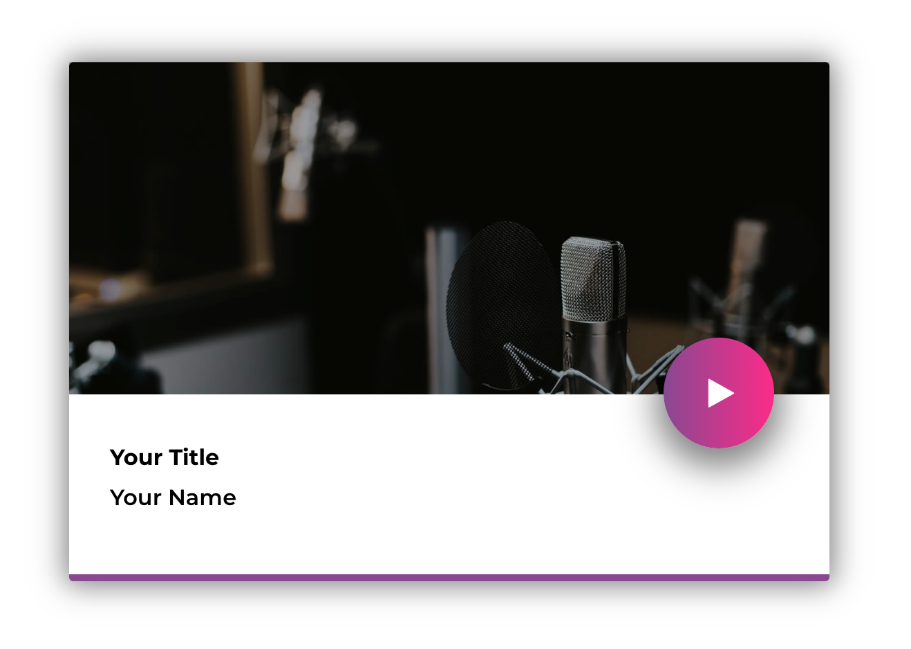 Example of a custom fresh Podcaster