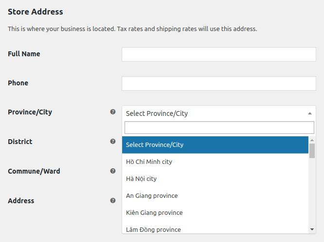 Update Store address (pro)