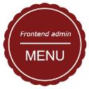 Frontend admin menu logo