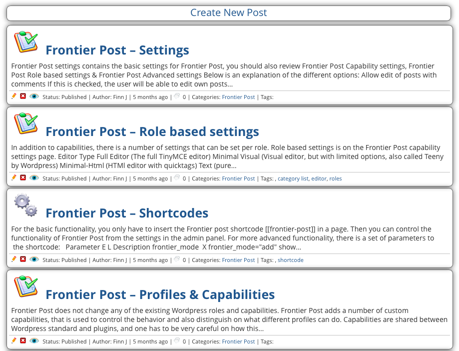 Frontier Post – WordPress plugin | WordPress org