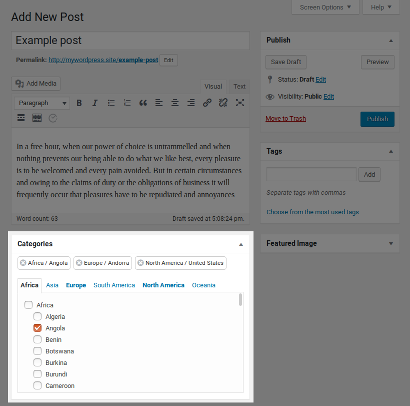 Plugin in the post edit page.