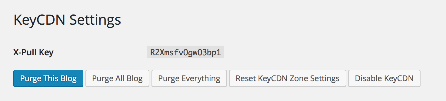 Settings page.