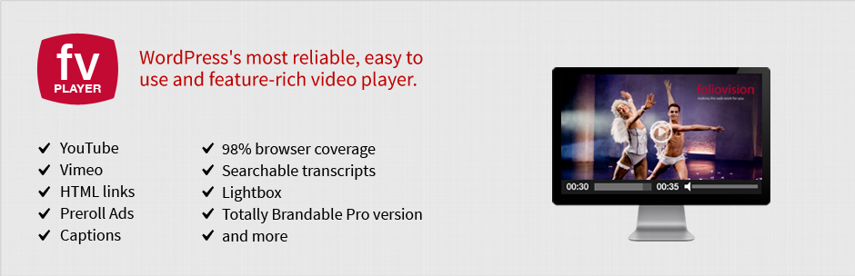 FV Flowplayer Video Player – WordPress plugin | WordPress org