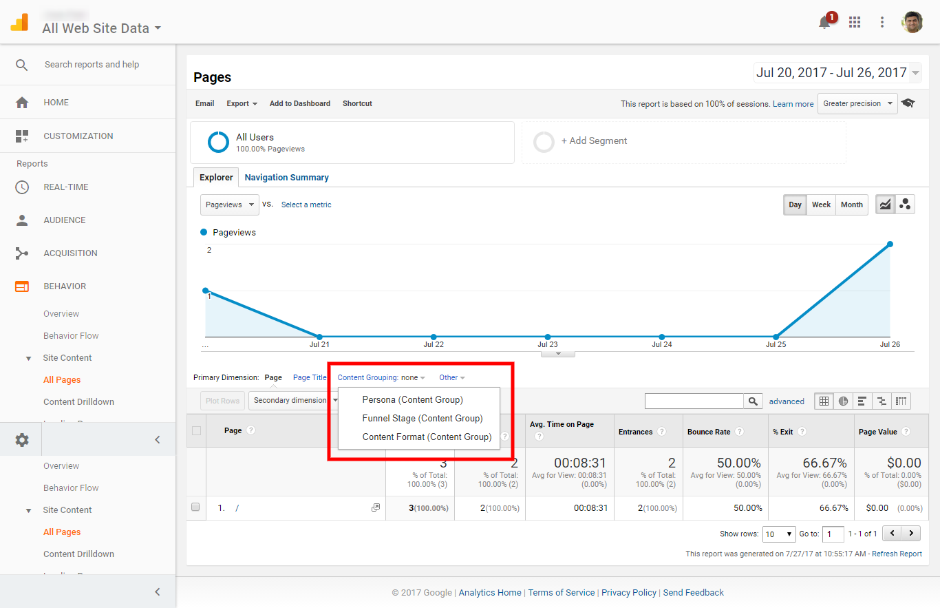 How to view report in Google Analytics?