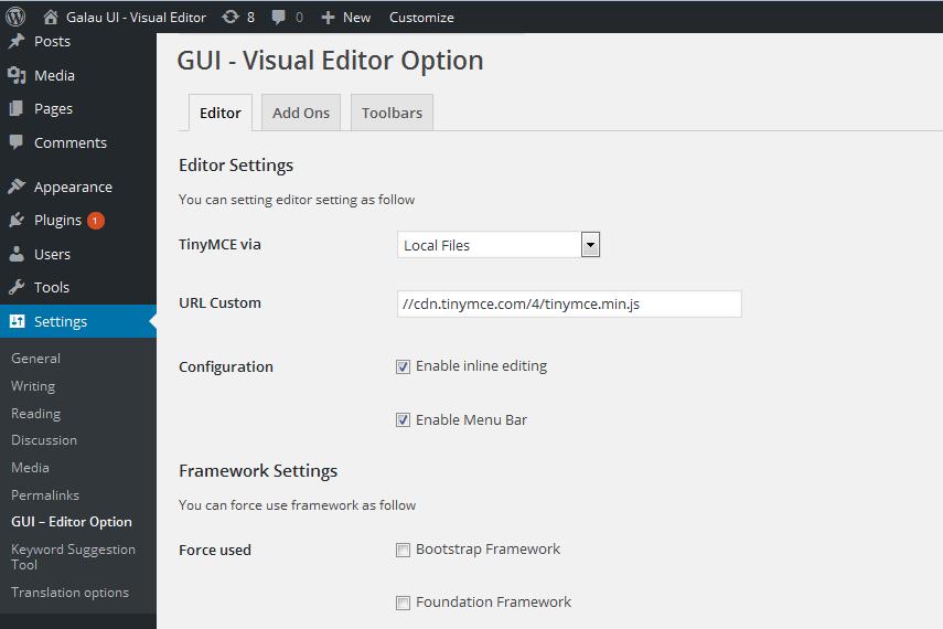 GUI – Visual Editor | WordPress.org