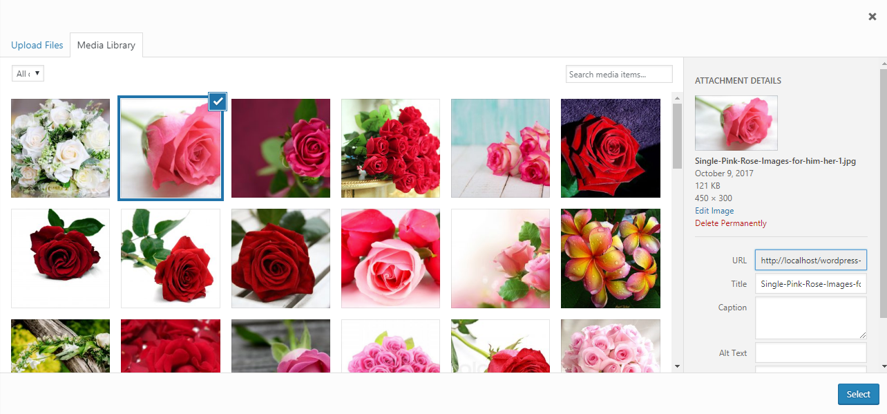 Add Gallery - Upload Images - WP Media Manager