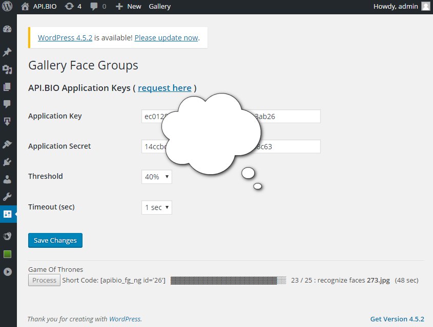 <strong>Working</strong> - plugin finding faces and groupin them