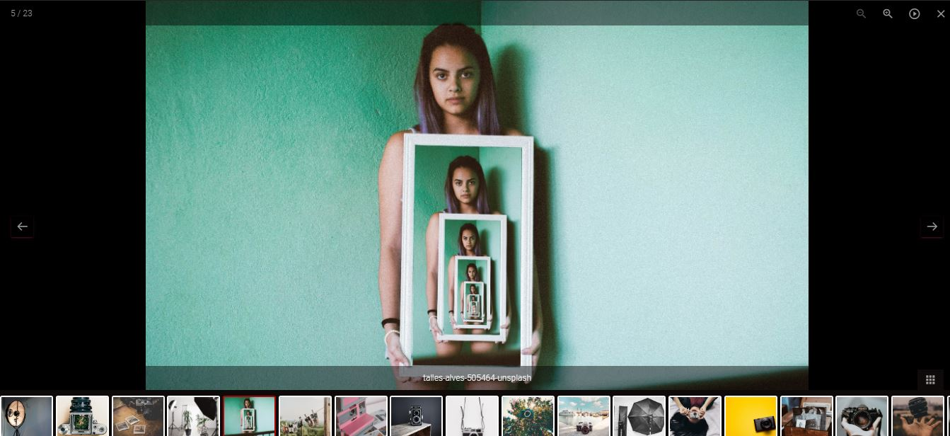 Photo Gallery - front end lightbox preview