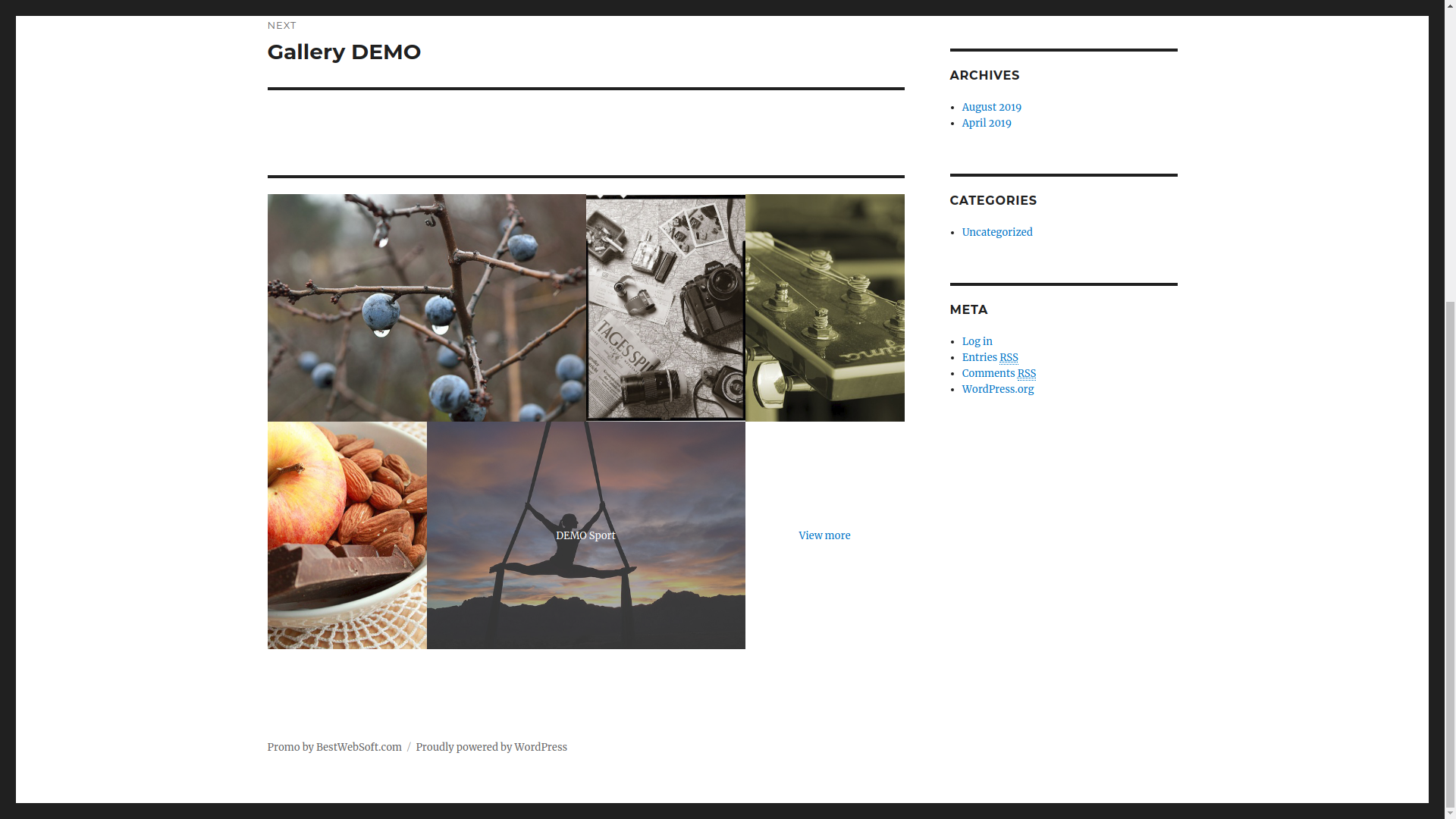 Edit Gallery page.