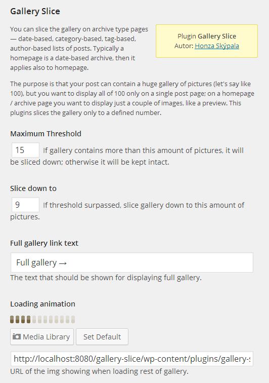Plug-in settings