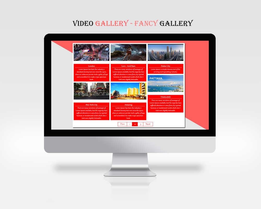 An example of plugin in action - Grid Gallery Type