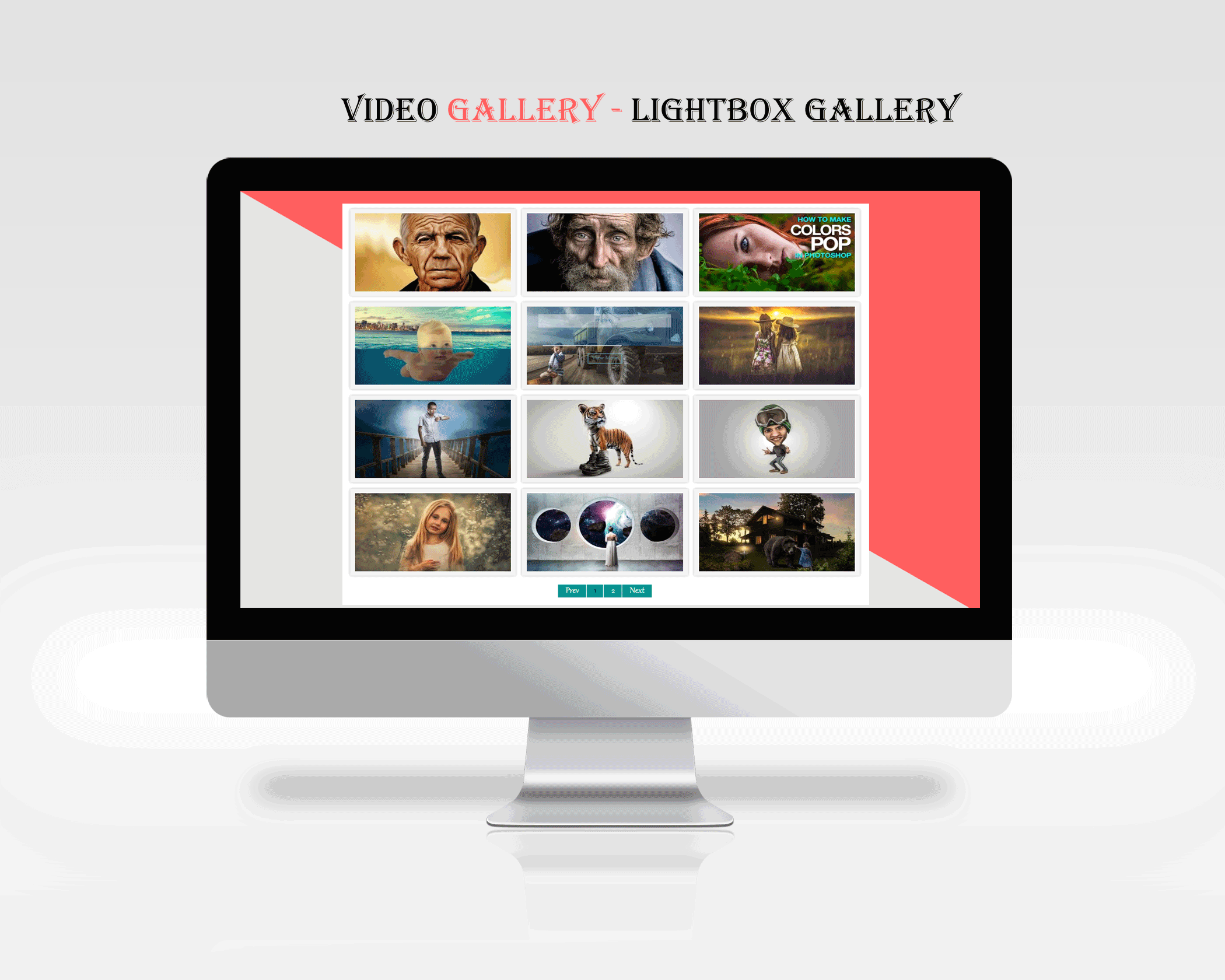 An example of plugin in action - LightBox Gallery Version)