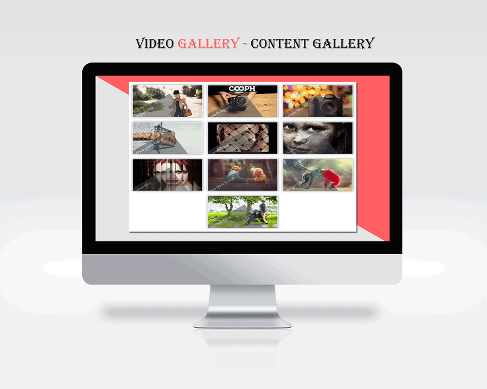An example of plugin in action Video Gallery / Content Popup
