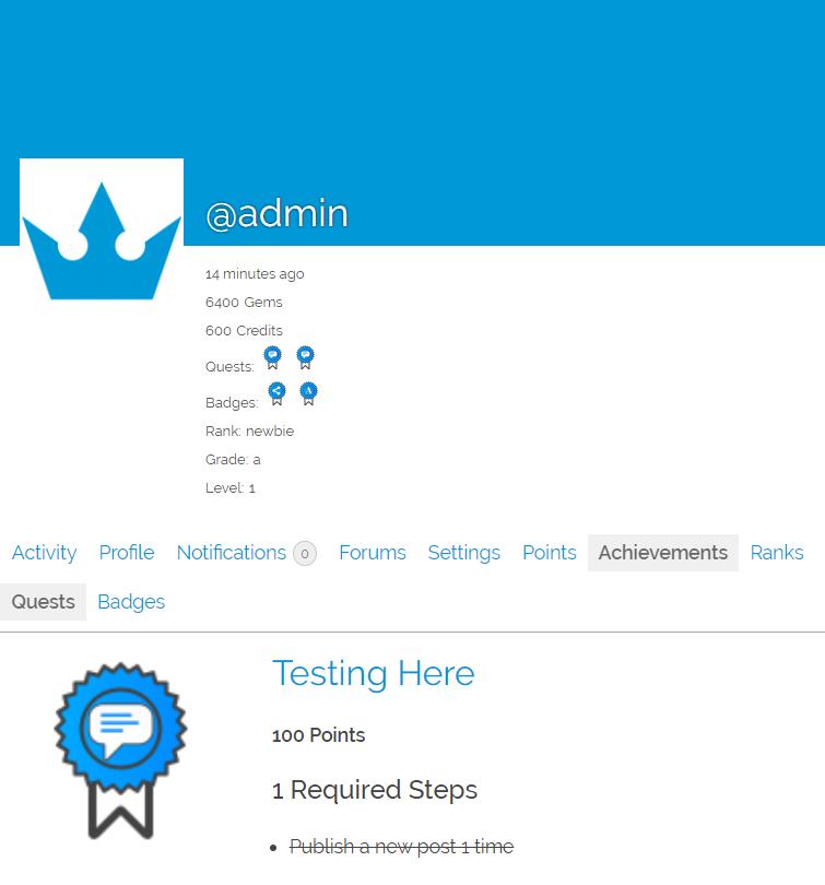 GamiPress – BuddyPress integration