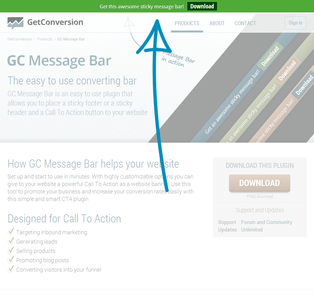 gc-message-bar screenshot 1