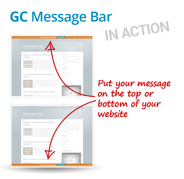 gc-message-bar screenshot 2