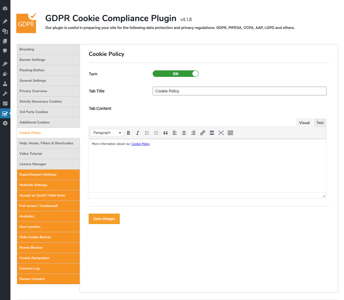 GDPR Cookie Compliance – WordPress plugin | WordPress org