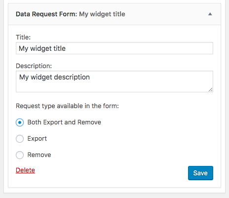 Data requests screen updated in WordPress Admin.