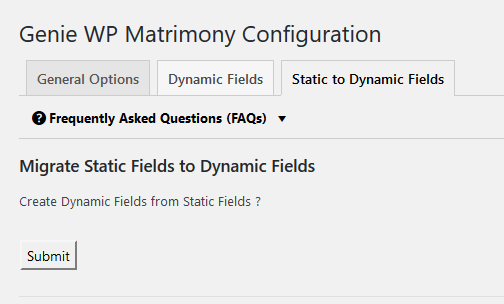 Staic fields to dynamic field migration - step 1
