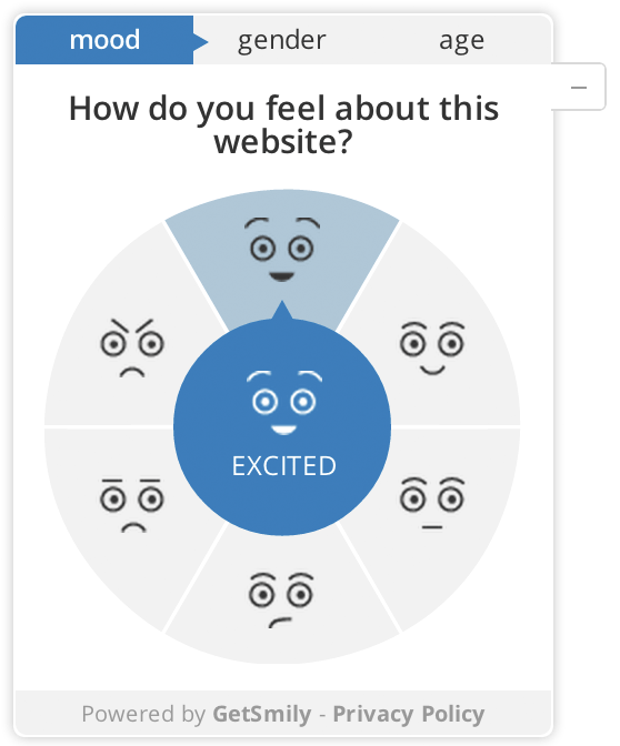 The emotion screen of our widget