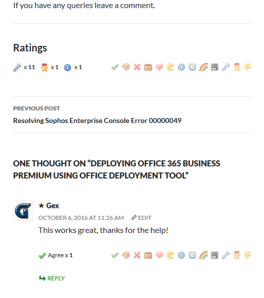 Ratings are styled using your current site theme.