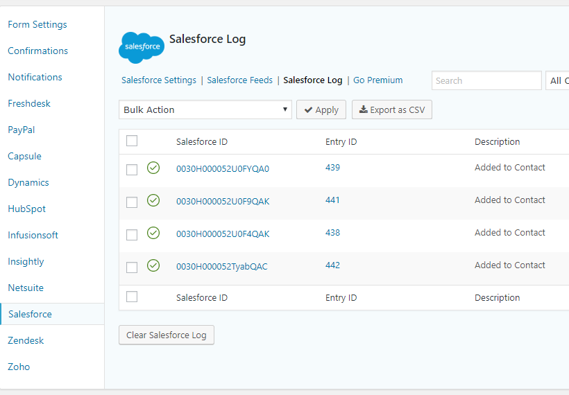 Gravity Forms Salesforce – WordPress plugin | WordPress org