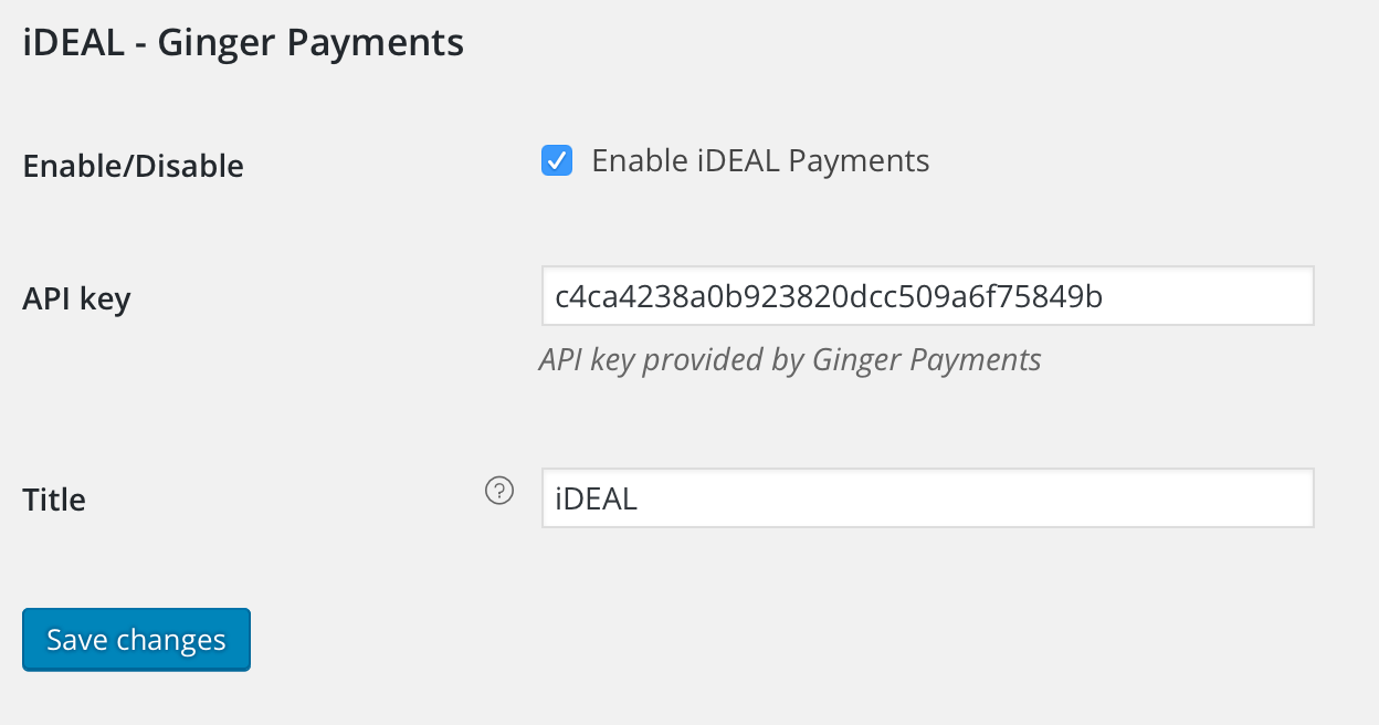 Ginger Payments WooCommerce Extension