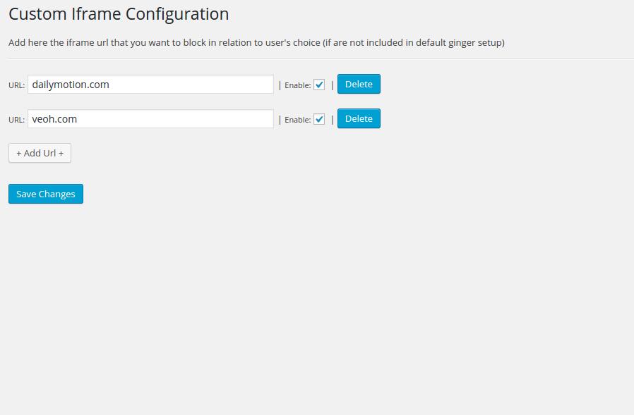 Custom Iframe Configurator Addon