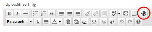Shortcode button in TinyMCE.